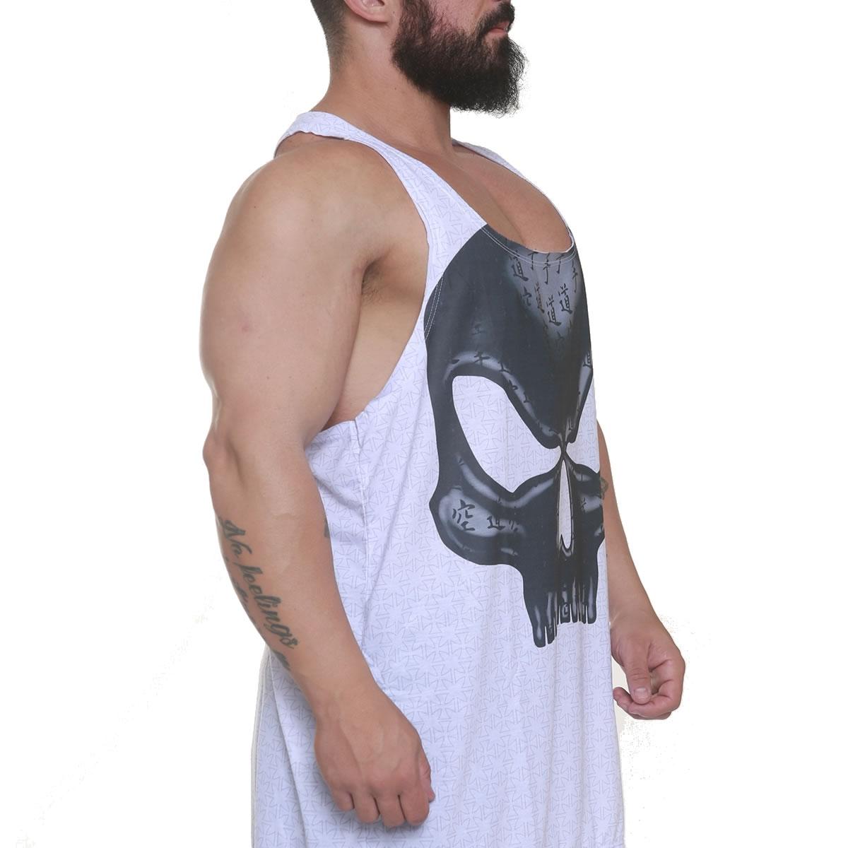 Regata Bodybuilder Flex Wheeler Branca - Black Skull Clothing