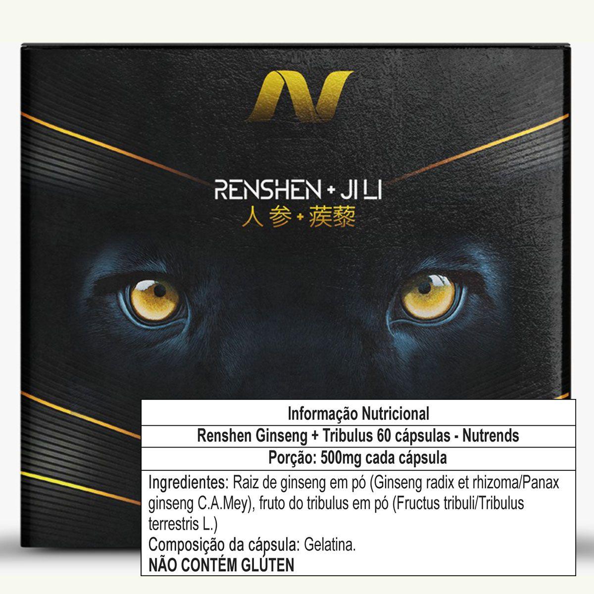 Renshen Ginseng + Tribulus 60 cápsulas - Nutrends