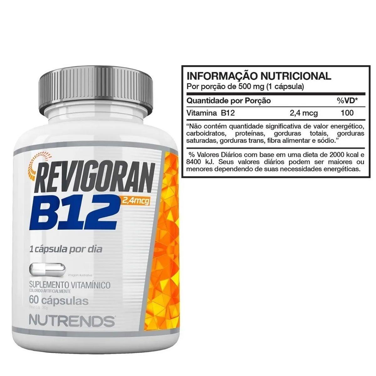 Revigoran B12 60 Cápsulas - Nutrends