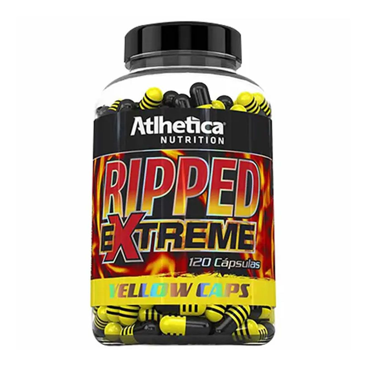Ripped Extreme Yellow 120 Cápsulas - Atlhetica Nutrition