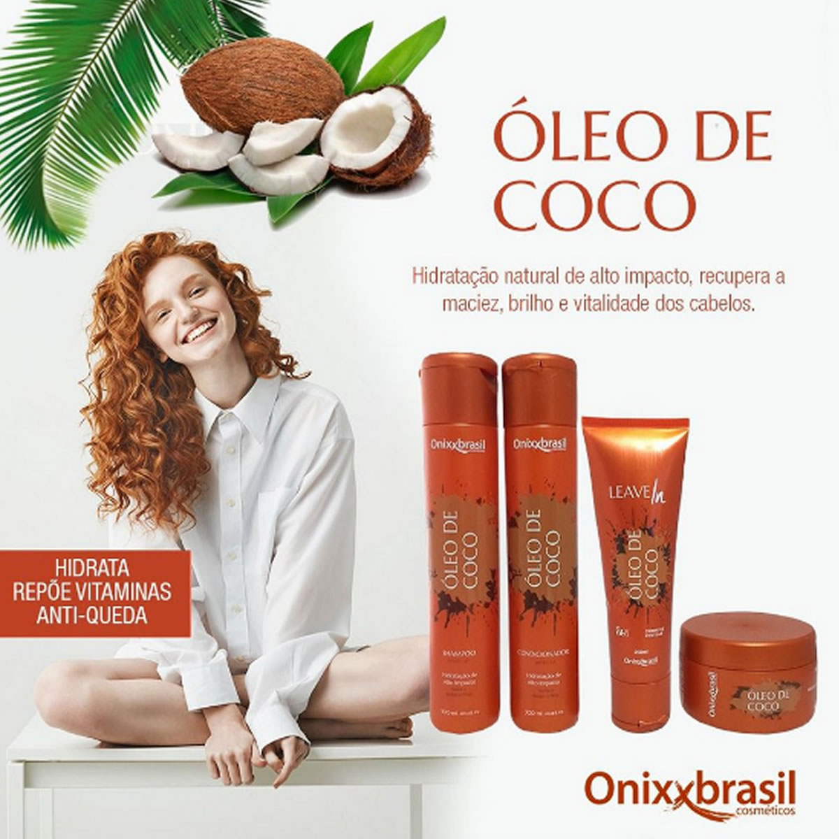 Shampoo Oléo De Coco 300ml - Onixx Brasil