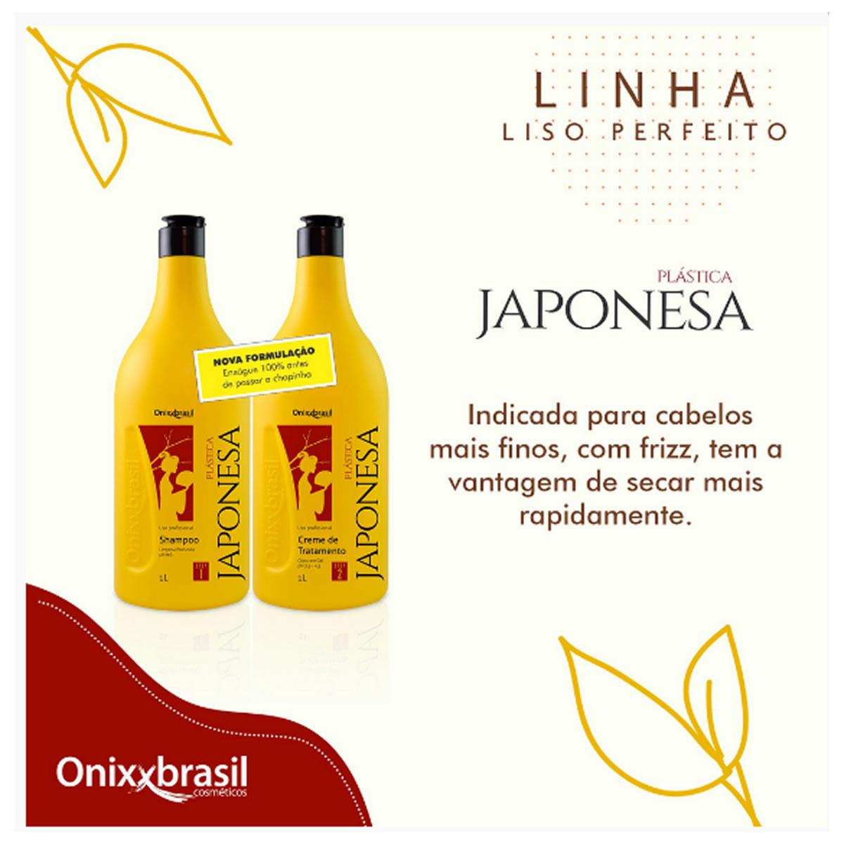 Shampoo Plástica Japonesa Ph9 1L - Onixxbrasil