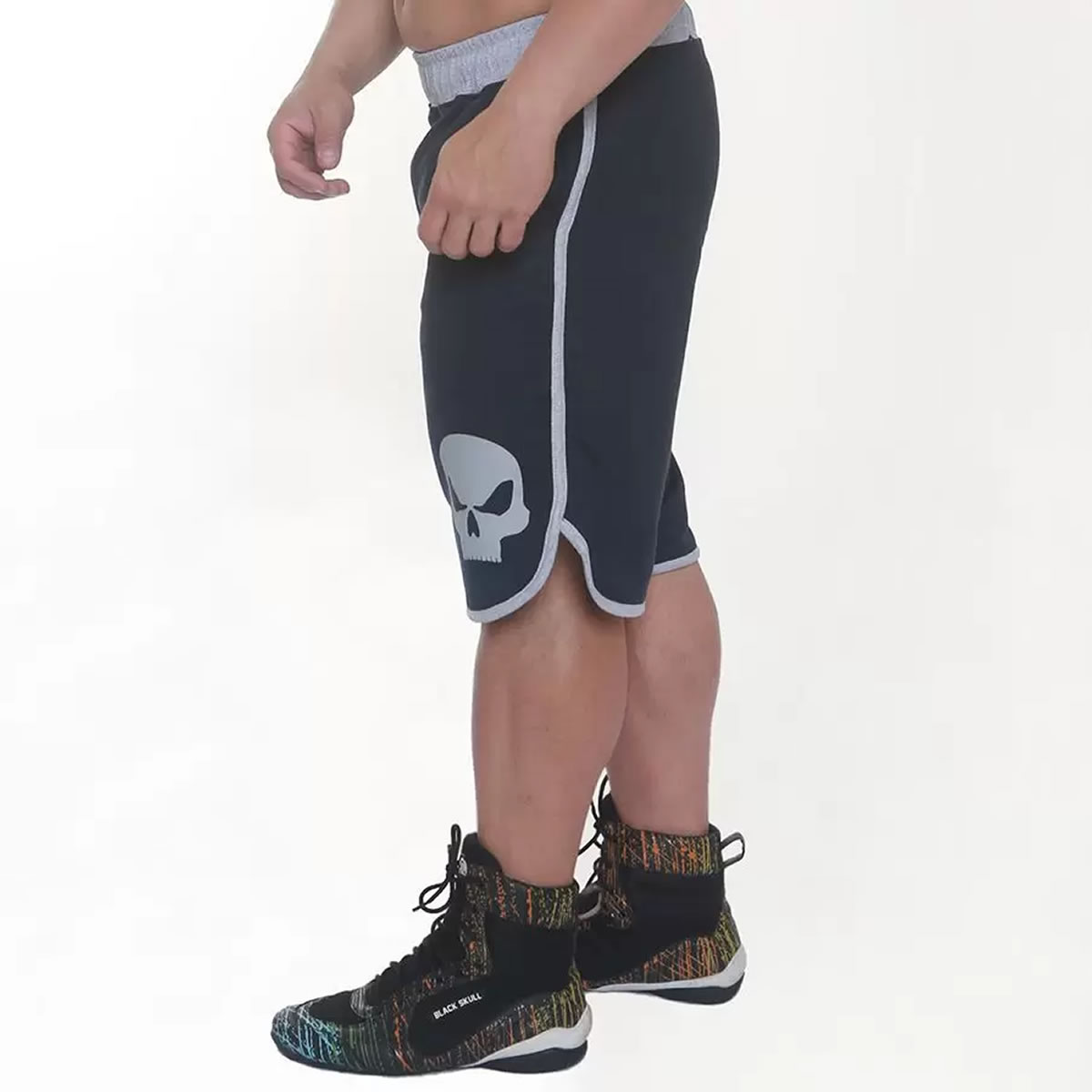 Shorts Moleton BSK8102 Preto - Black Skull Clothing