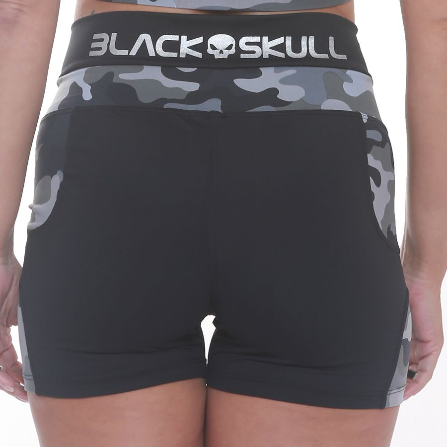Shorts Squadrow Preto - Black Skull