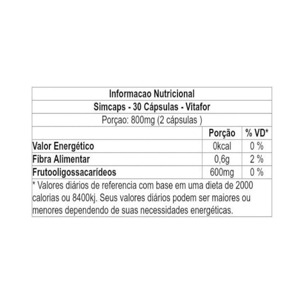 SimCaps 30 Cápsulas - Vitafor