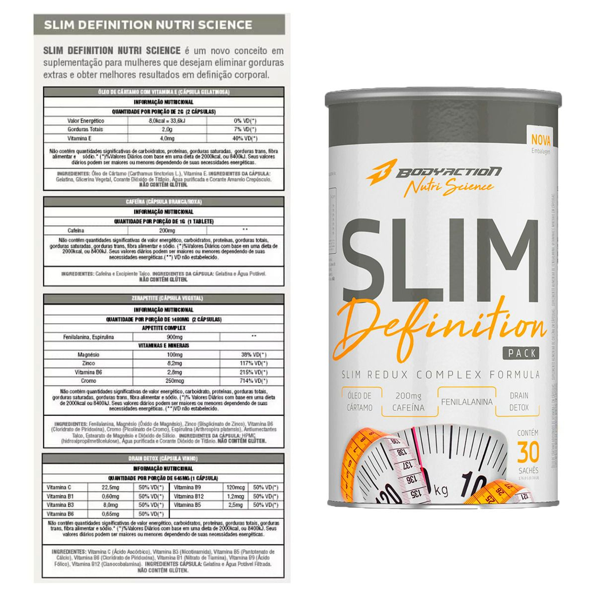 Slim Definition 30 sachês - Body Action