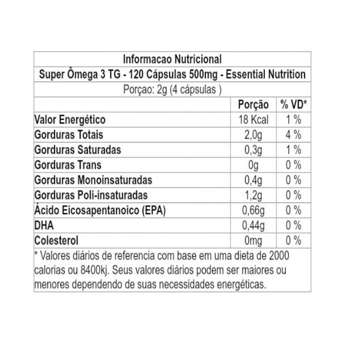 Super Omega 3 500mg 120 caps - Essential Nutrition