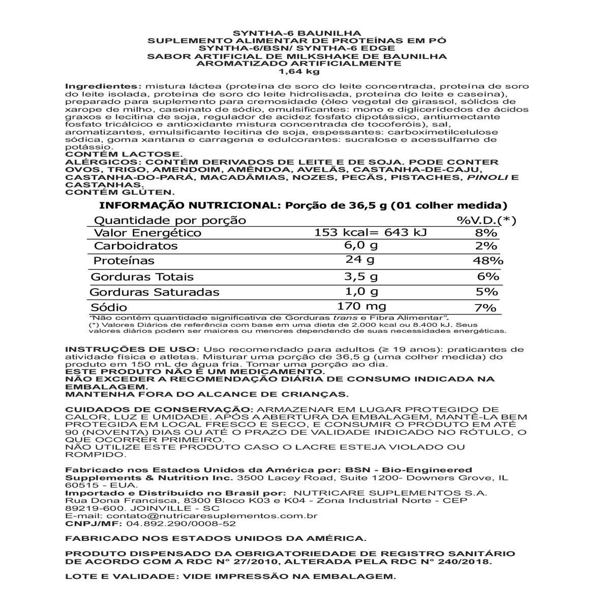 Syntha-6 1,64kg - BSN