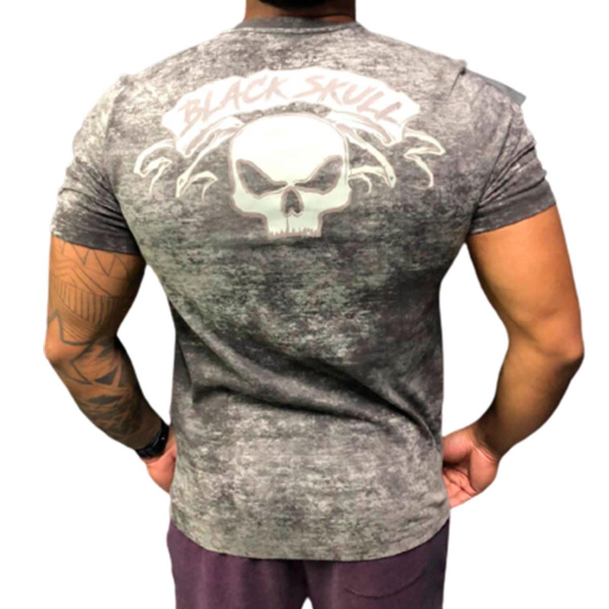 T-shirt Cacique Skull Mescla - Black Skull Clothing