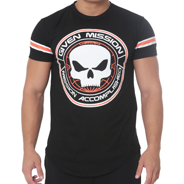 T-Shirt Given Mission – Black Skull