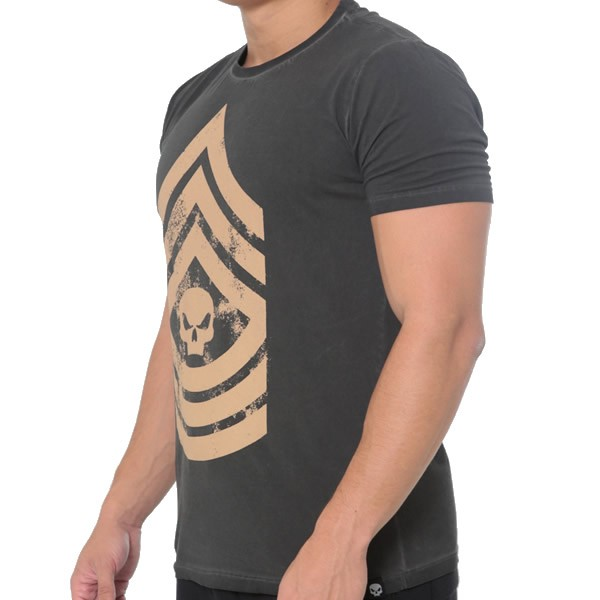 T-Shirt Military - Cinza - Black Skull