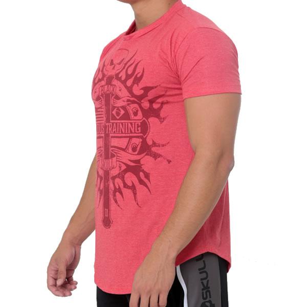 T-Shirt Serious Training - Vermelho - Black Skull