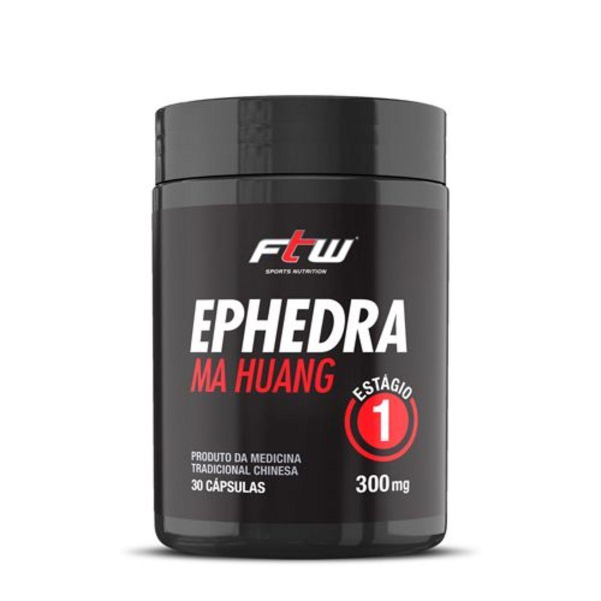 Termogenico Ephedra Ma Huang 30 Cápsulas - FTW
