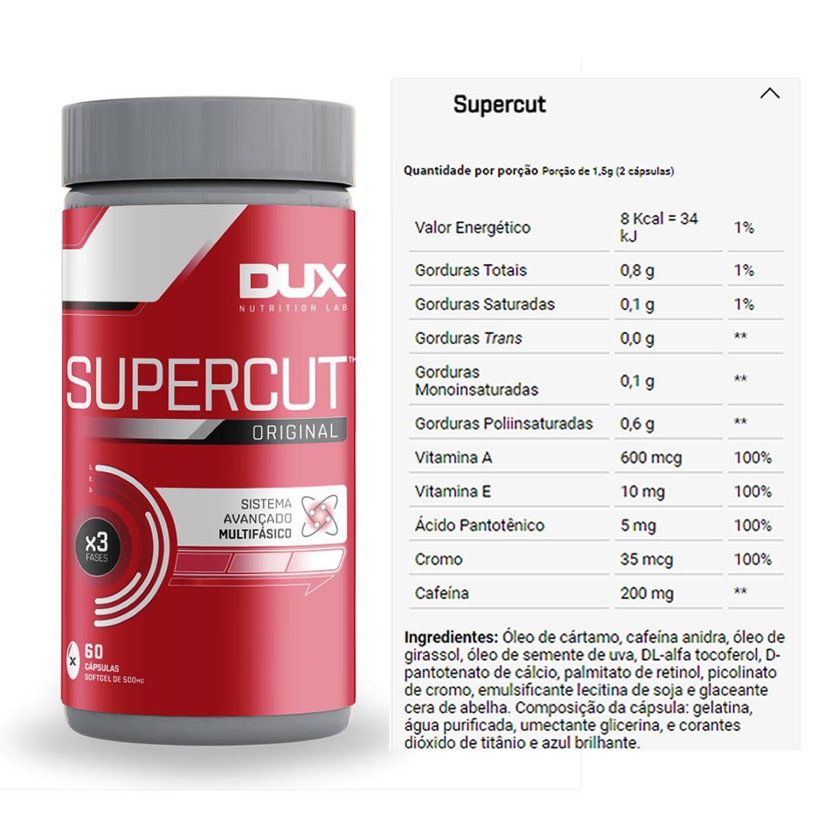 Termogênico Supercut - 60 Cápsulas - Dux Nutrition