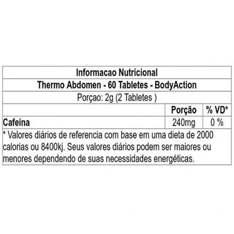 Termogenico Thermo Abdomem 60 Cápsulas - Body Action