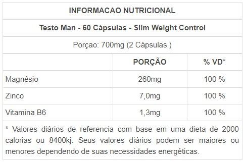 Testo-Man 60 cápsulas - Slim
