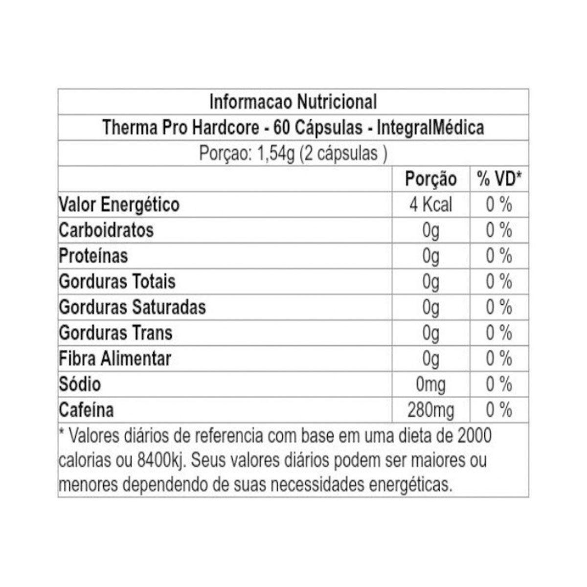 Therma Pro Hardcore 60 Cápsulas - Integral Médica