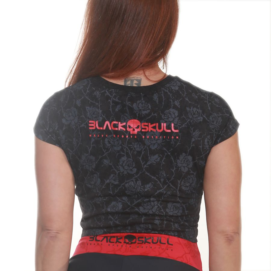 Top Transpassado Preto - Black Skull