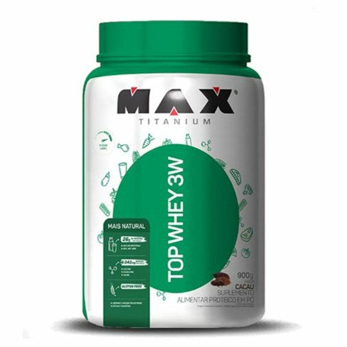 Top Whey 3W Mais Natural 900g - Max Titanium