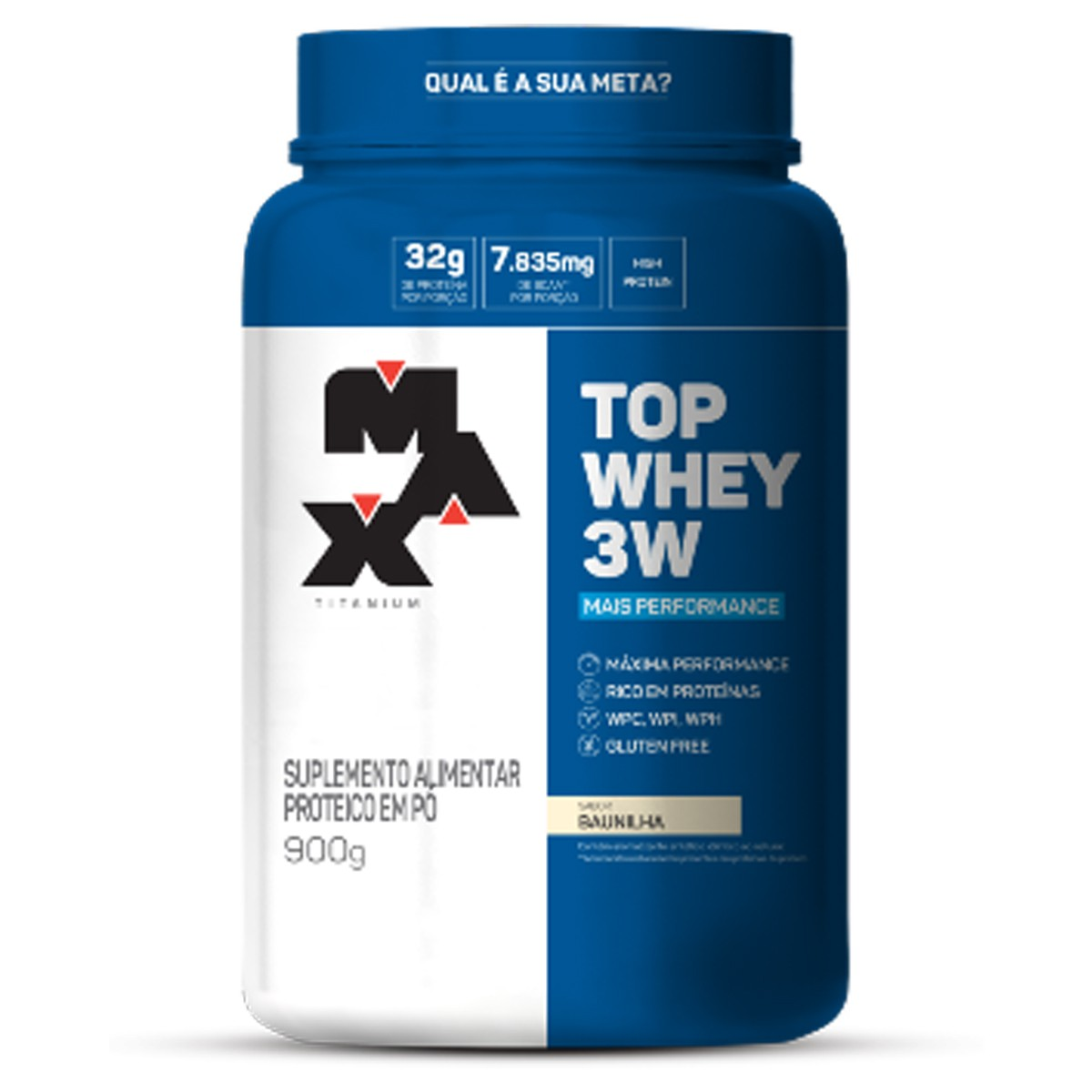 Top Whey 3W Mais Performance 900g - Max Titanium