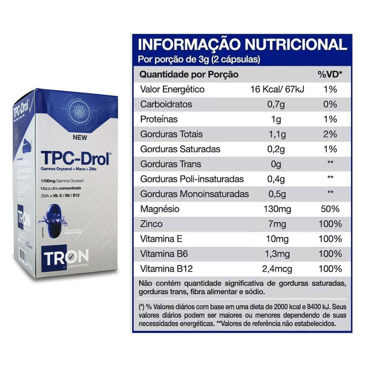 TPC Drol 60 cápsulas - Tron Laboratorium