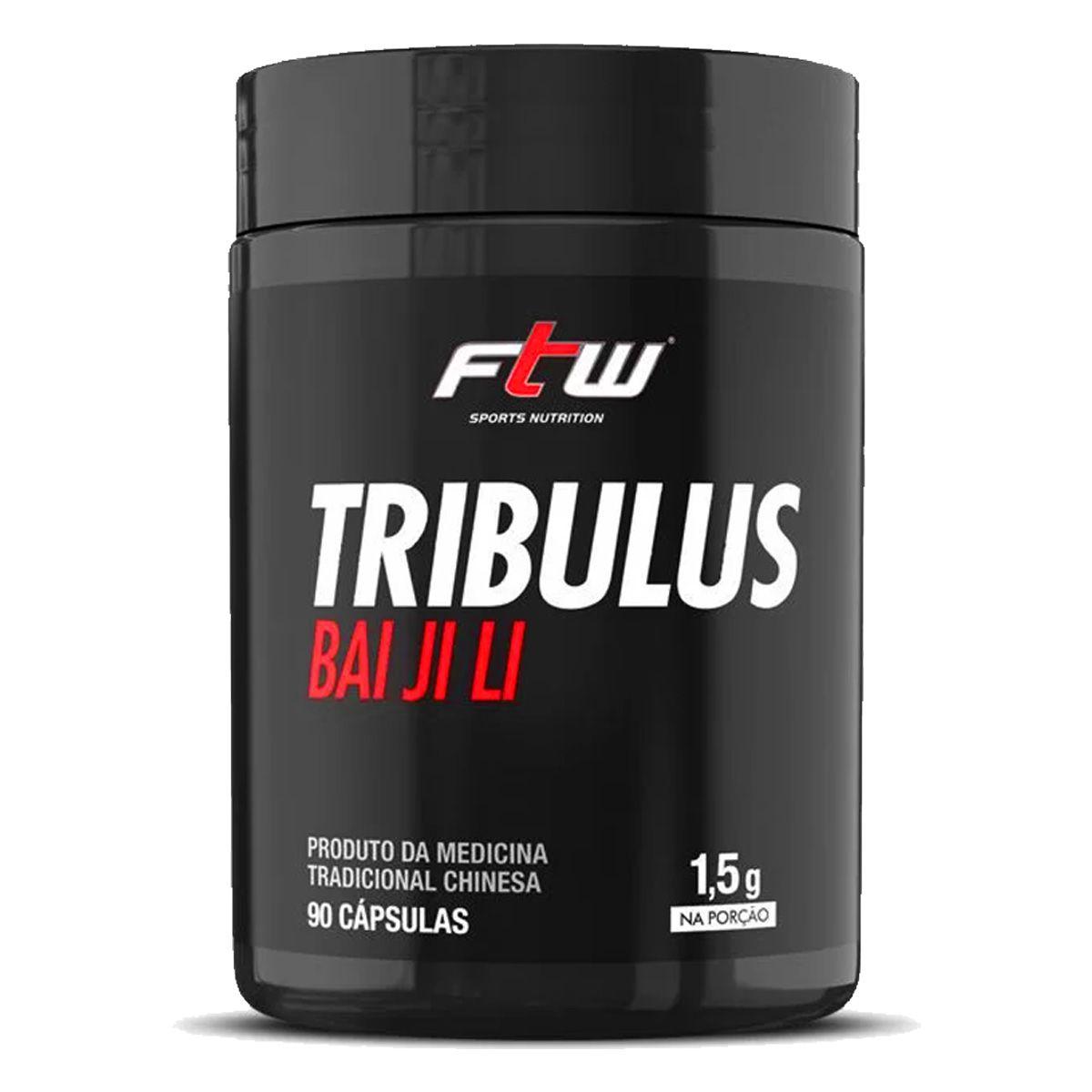 Tribulus Bai Ji Li 1,5g - 90 Cápsulas - FTW