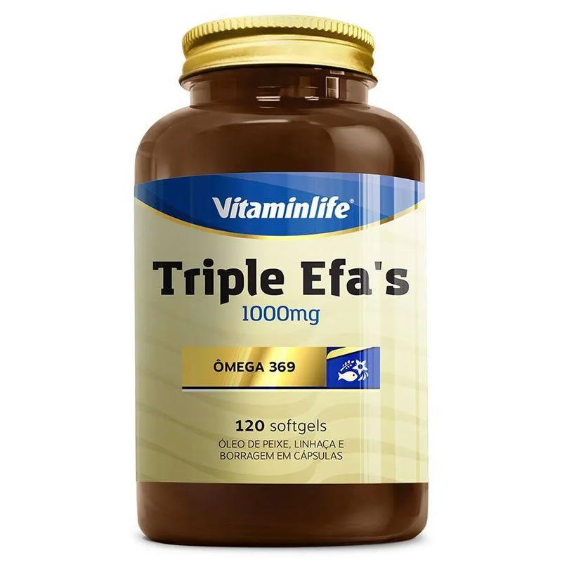 Triple Efa's Omega 369 120 Cápsulas - Vitamin Life