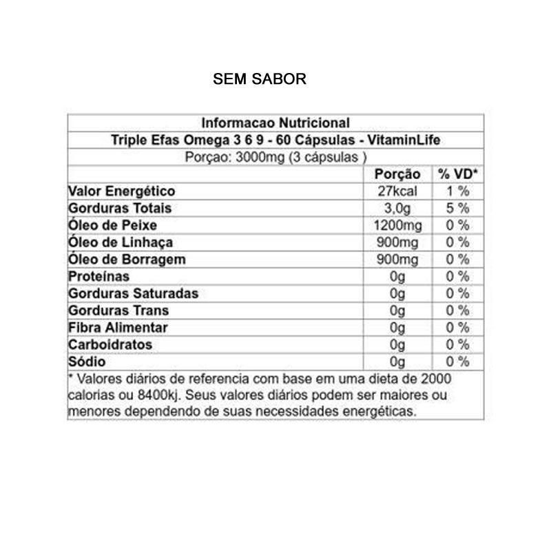Triple Efa's Omega 369 60 Cápsulas - Vitamin Life