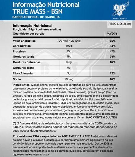 True Mass 2,64 Kg - BSN