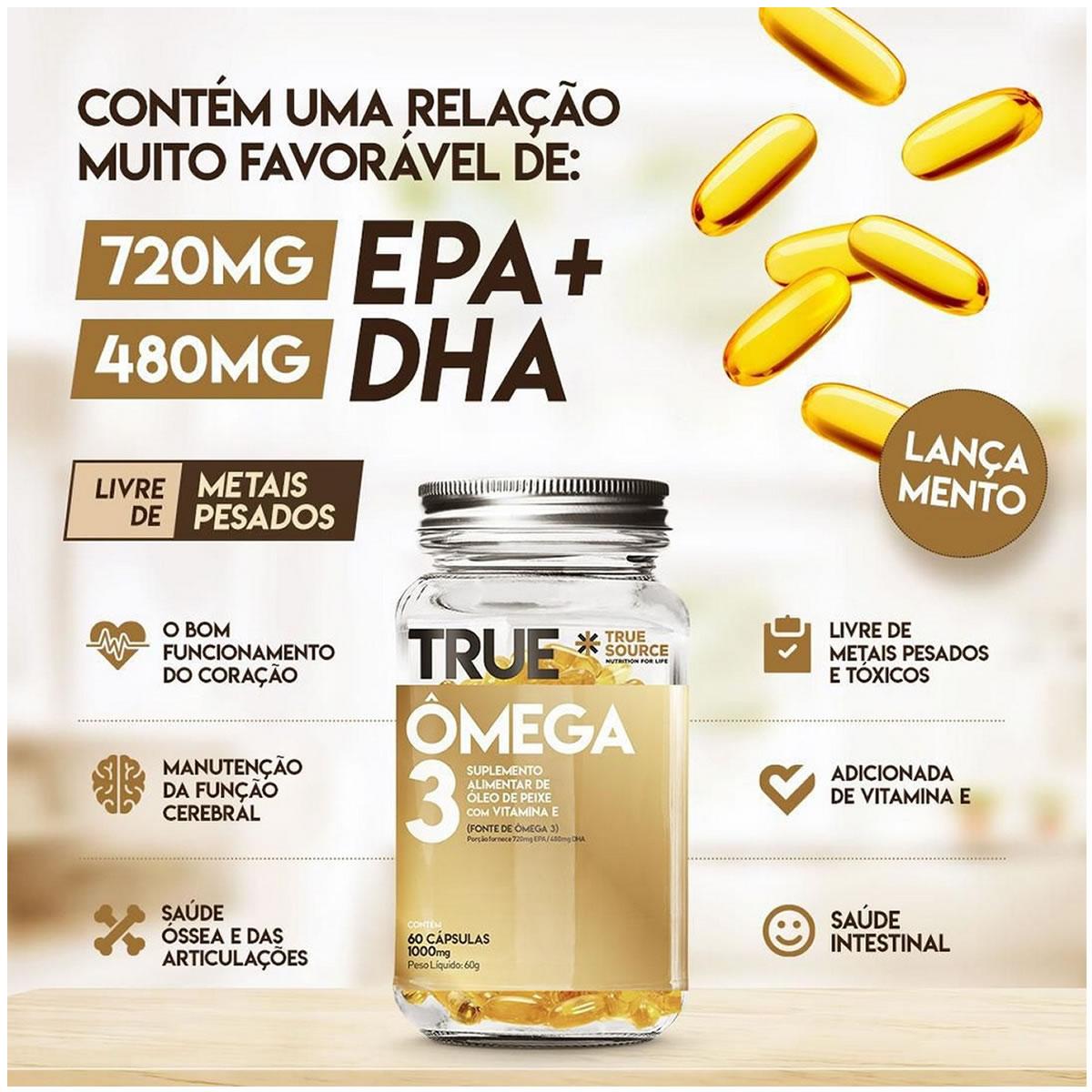 True Ômega 3 60 Cáps - True Source