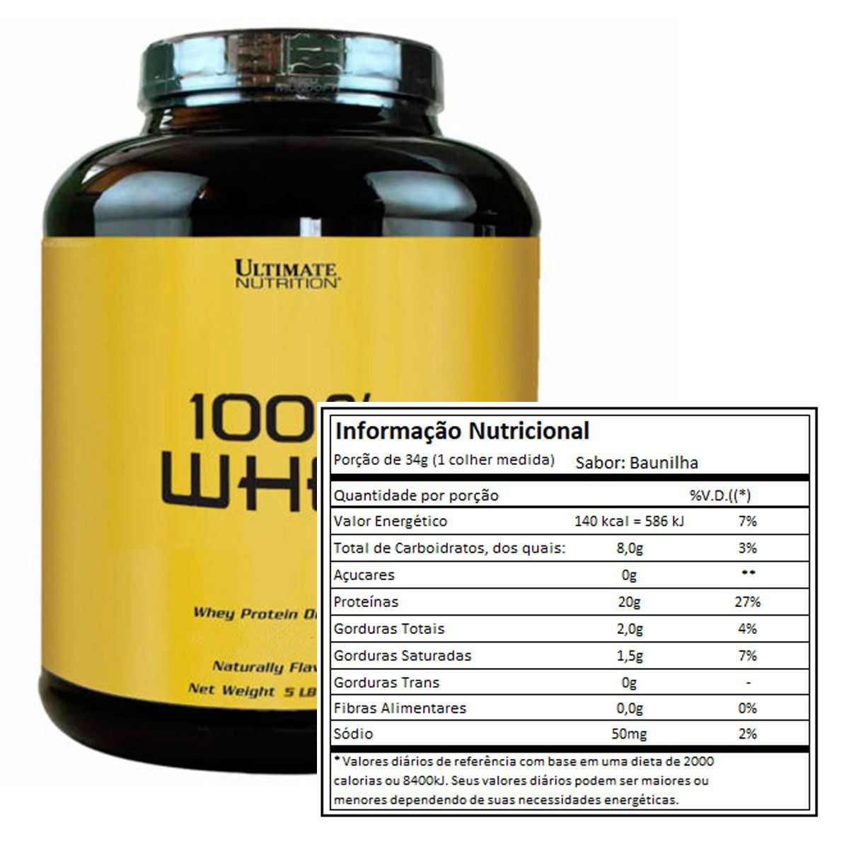 Ultimate 100% Whey Protein 2,2kg - Ultimate Nutrition