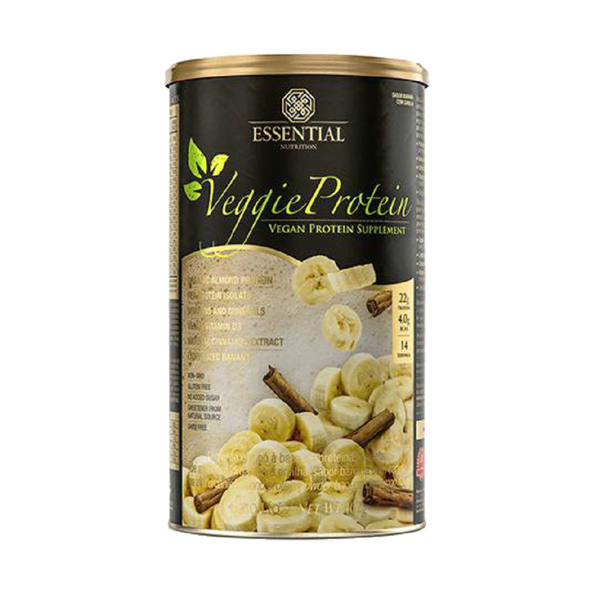 Veggie Protein - Banana Com Canela - 450 g - Essential Nutrition