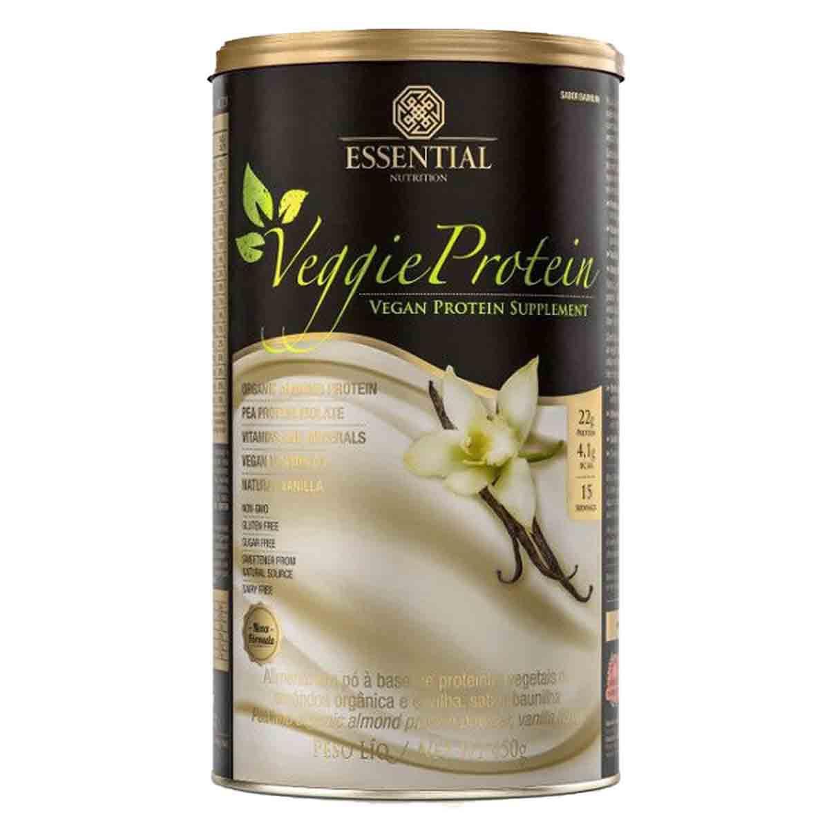 Veggie Protein Baunilha 450g - Essential Nutrition