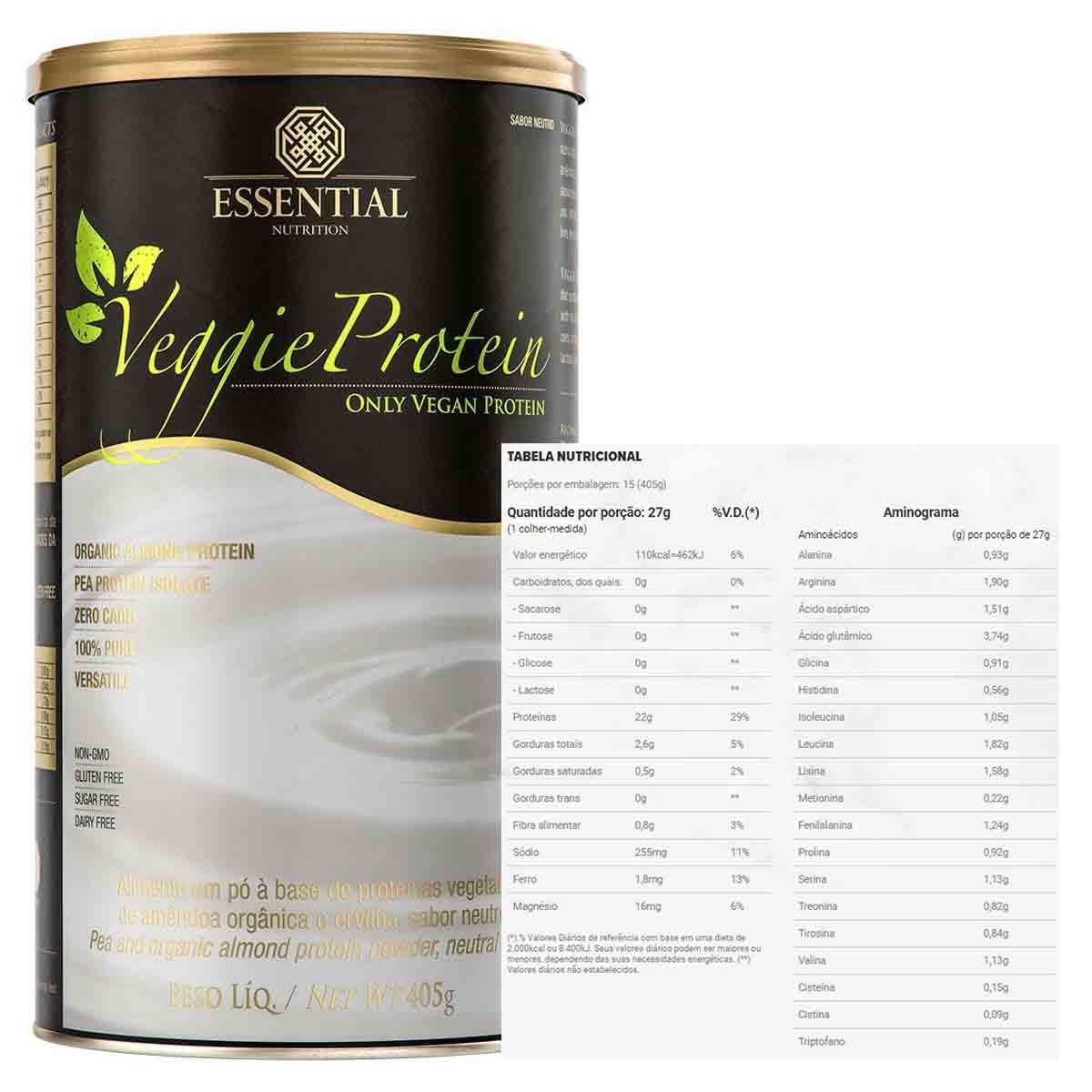 Veggie Protein Neutro 400g - Essential Nutrition