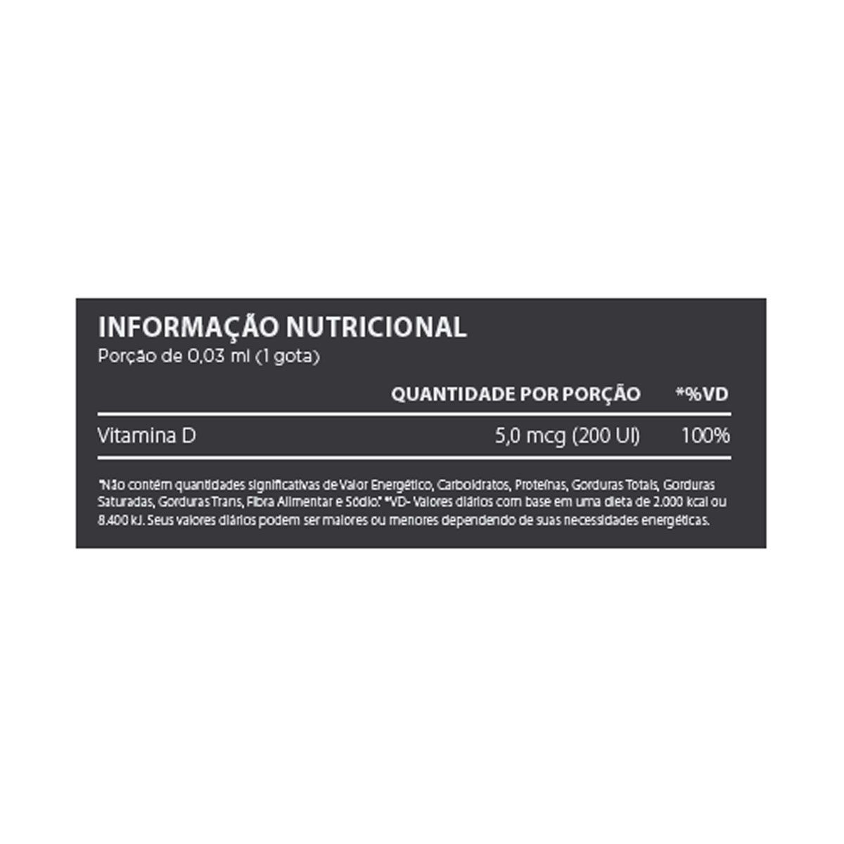 Vit D3 30 ml - Atlhetica Nutrition