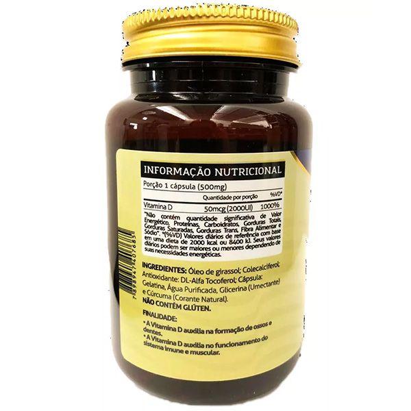 Vit D 60 Cápsulas - Vitamin Life