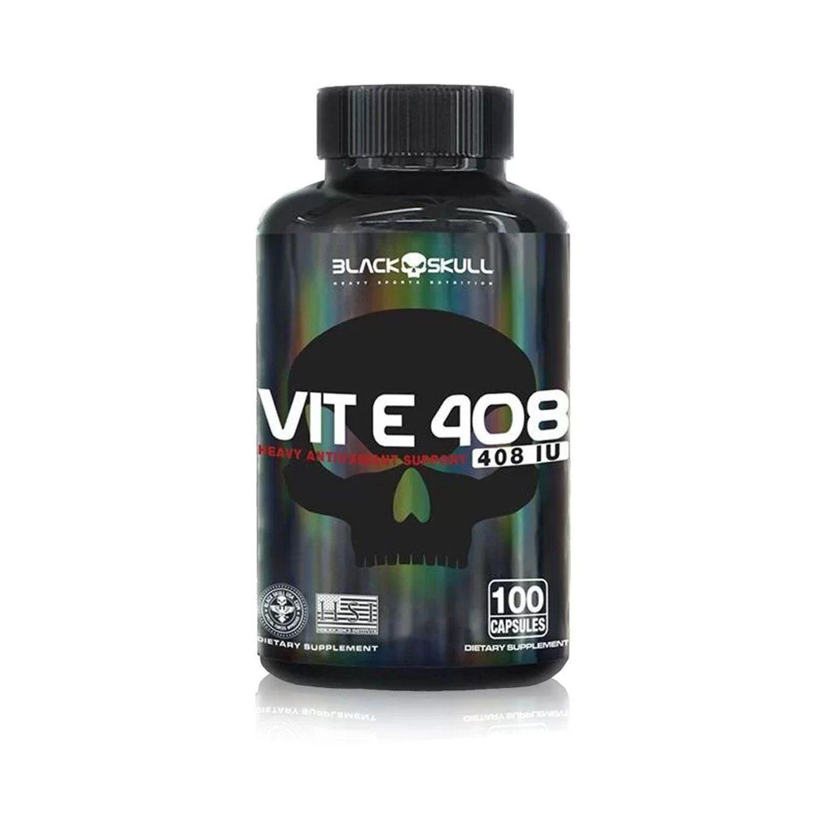 Vit-E 408 - 100 Cápsulas - Black Skull