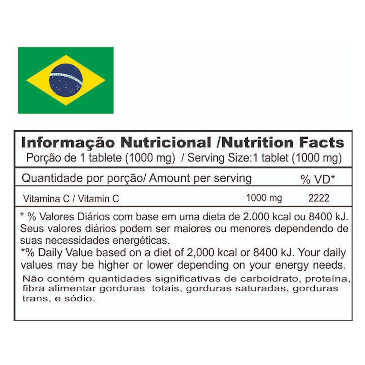 Vitamin C 1000 - 120 Tabletes - Under Labz