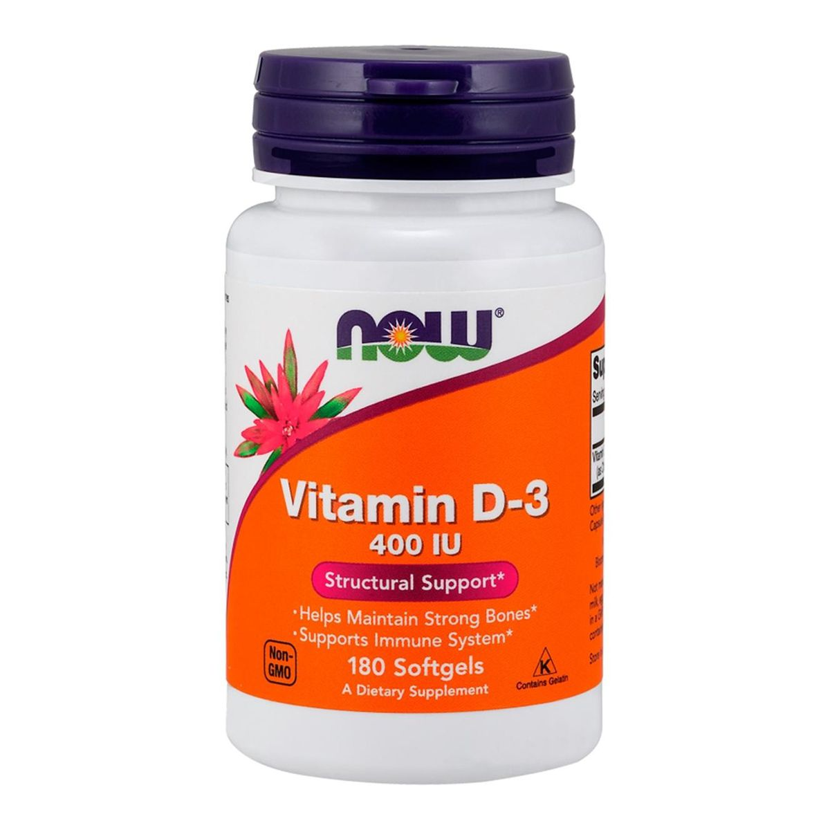 Vitamin D3 400UI - 180 Softgels - Now