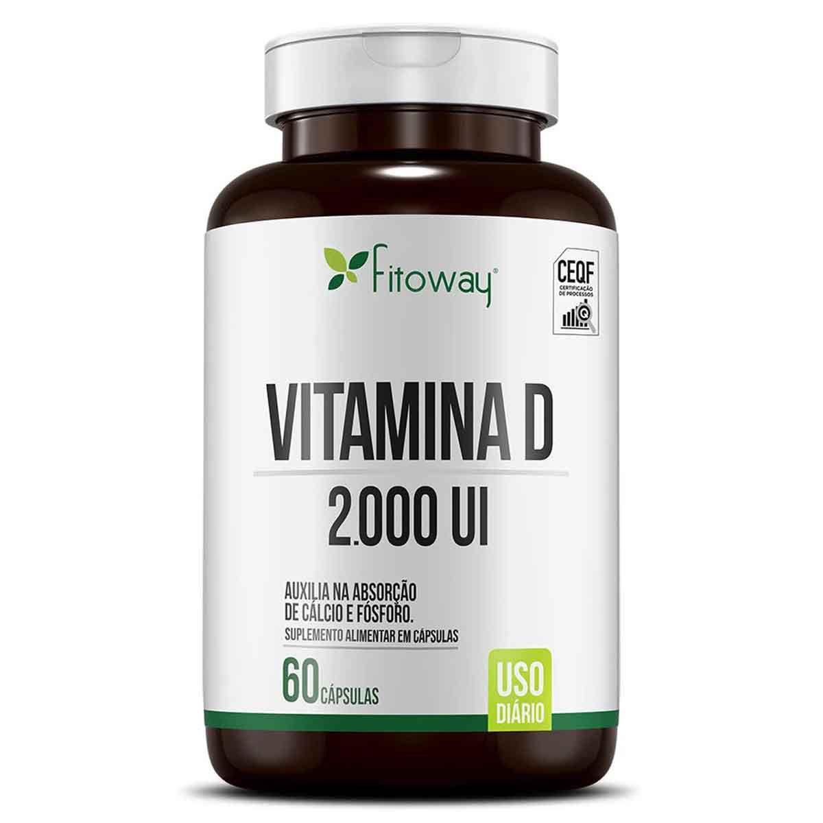 Vitamina D 2000 Ui 60 cápsulas - Fitoway
