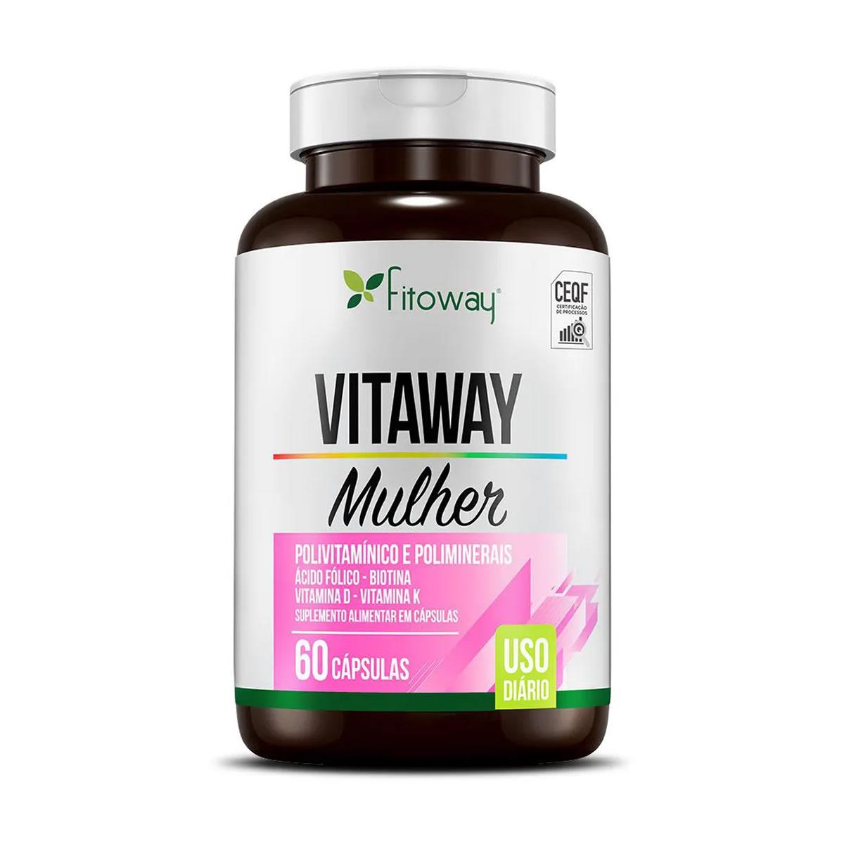 Vitaway Mulher 60 Cáps - Fitoway Clean