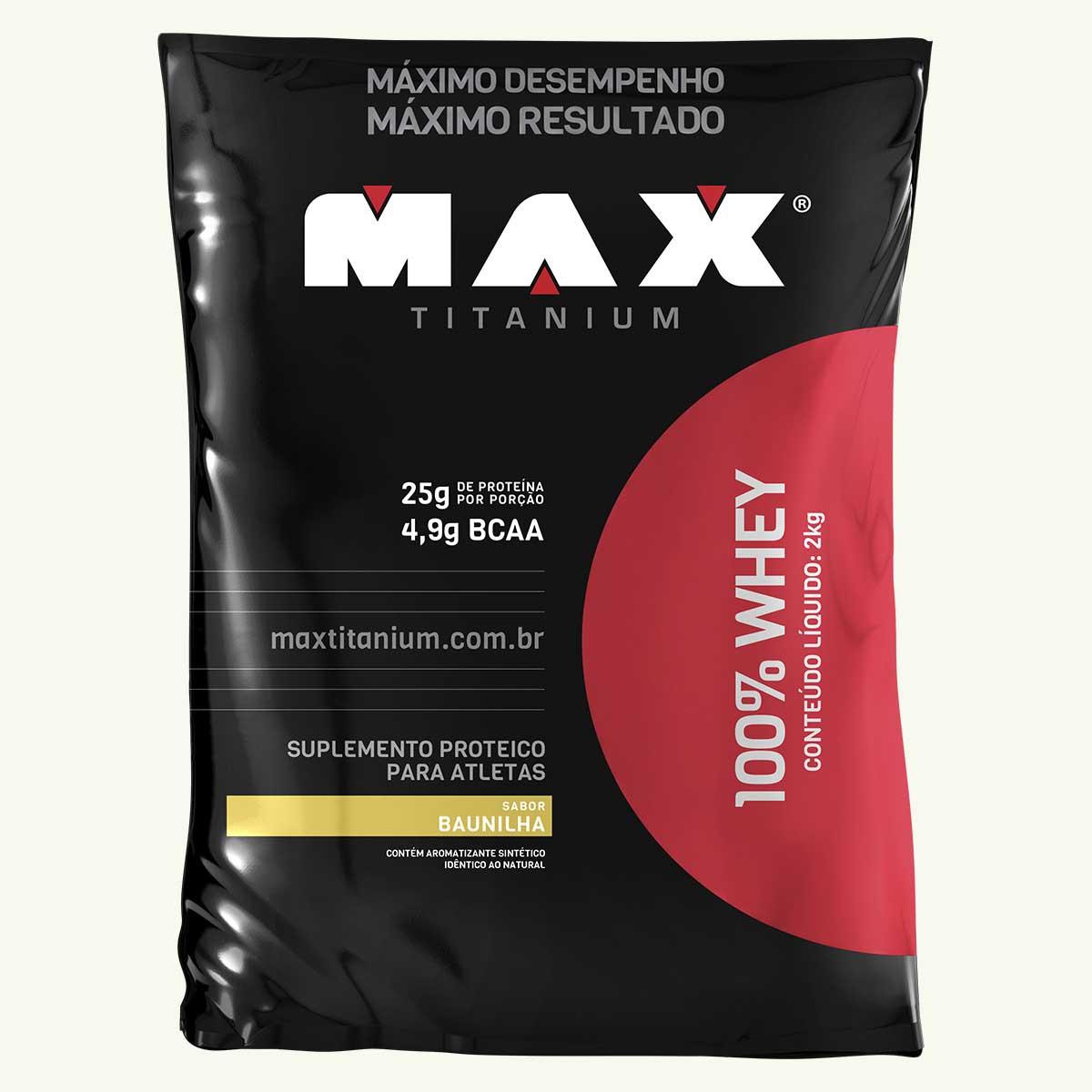 Whey 100% 2kg - Max Titanium