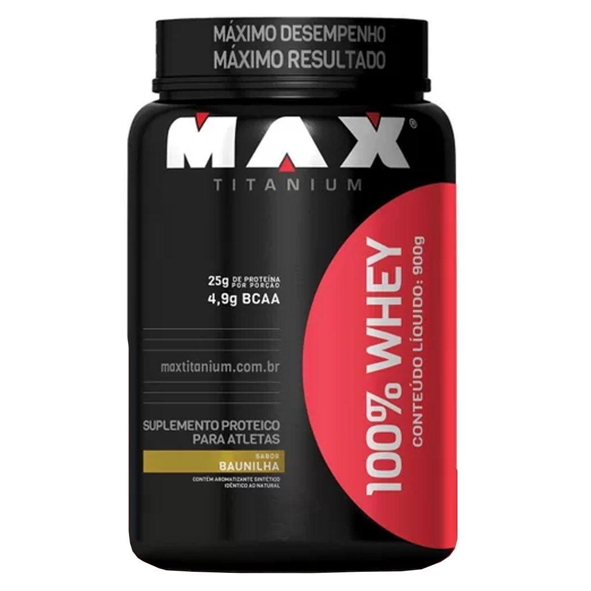 Whey 100% 900g - Max Titanium