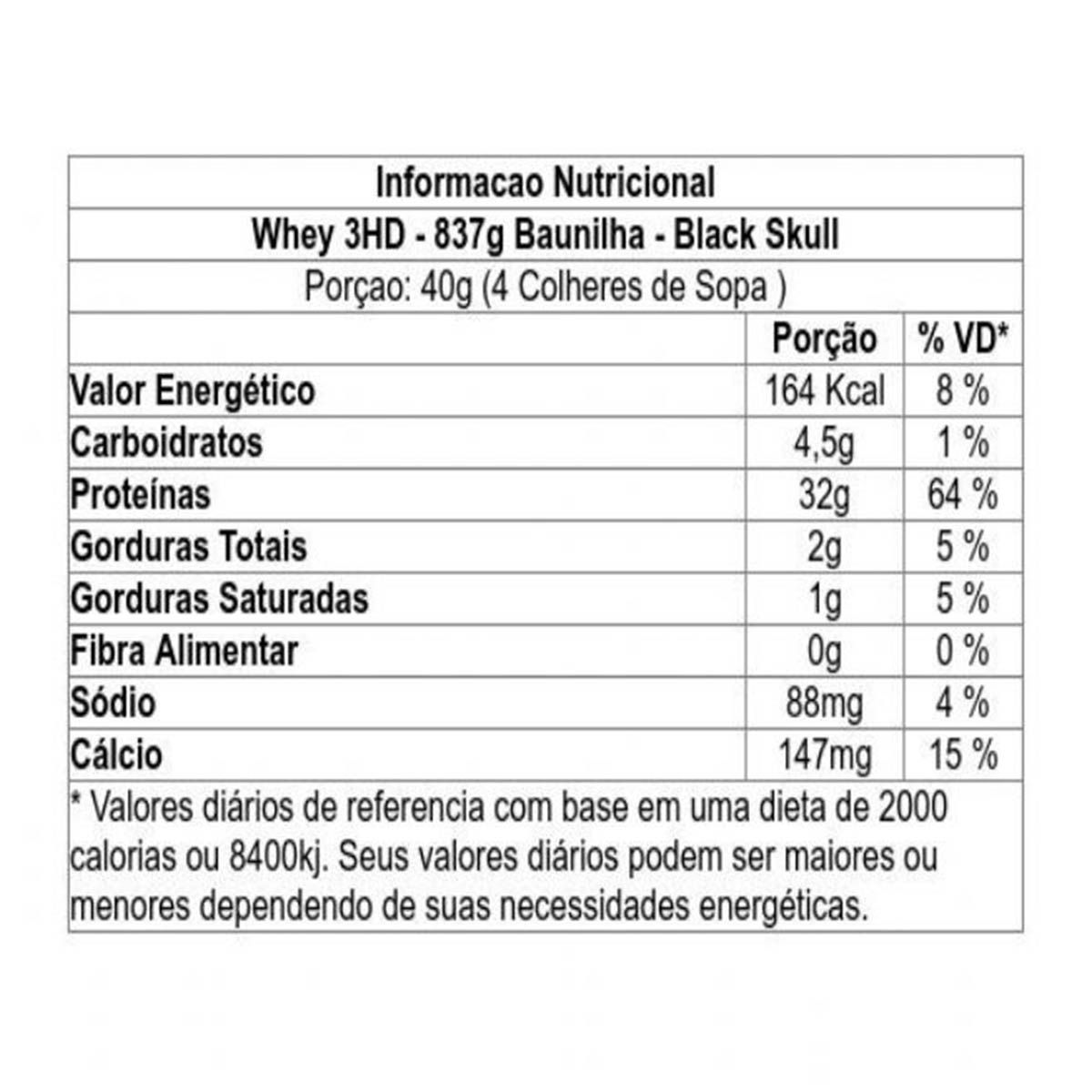 Whey 3HD 840g Refil - Black Skull