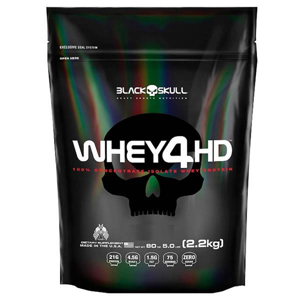 Whey 4HD 2,2 Kg Refil - Black Skull