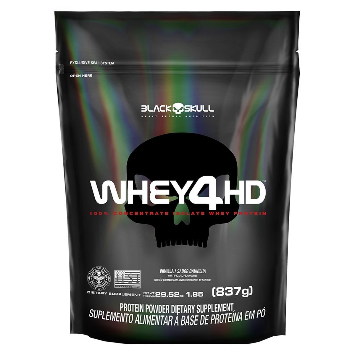 Whey 4HD 837g Refil - Black Skull