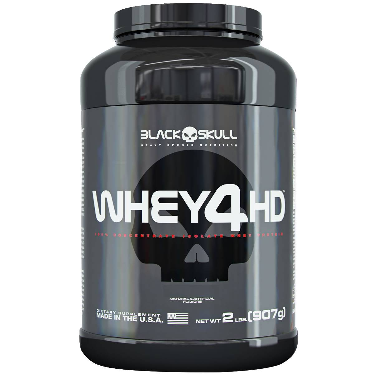 f0c486e8e Whey 4HD 900 g - Black Skull - Body Shopping Suplementos Alimentares