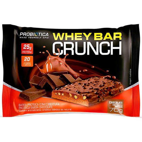 Whey Bar Crunch 8 Unidades - Probiótica
