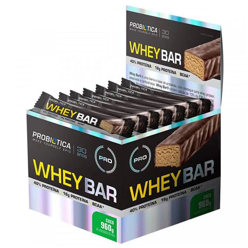 Whey Bar Low Carb 24 Unidades - Probiótica