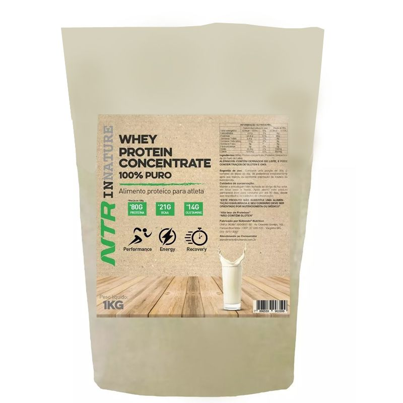 Whey Concentrate  100% Puro -1Kg - NTR